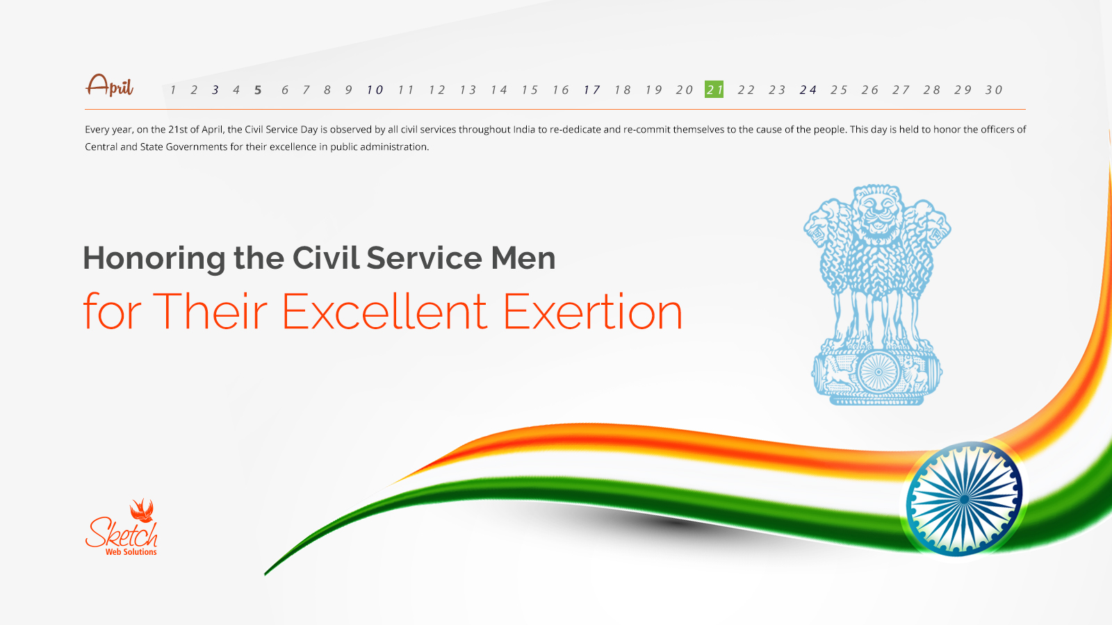Honoring the Civil Service Men for Their Excellent Exertion