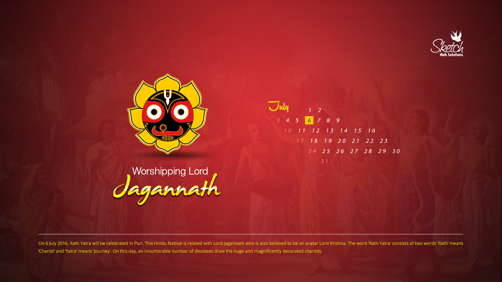 Worshipping Lord Jagannath